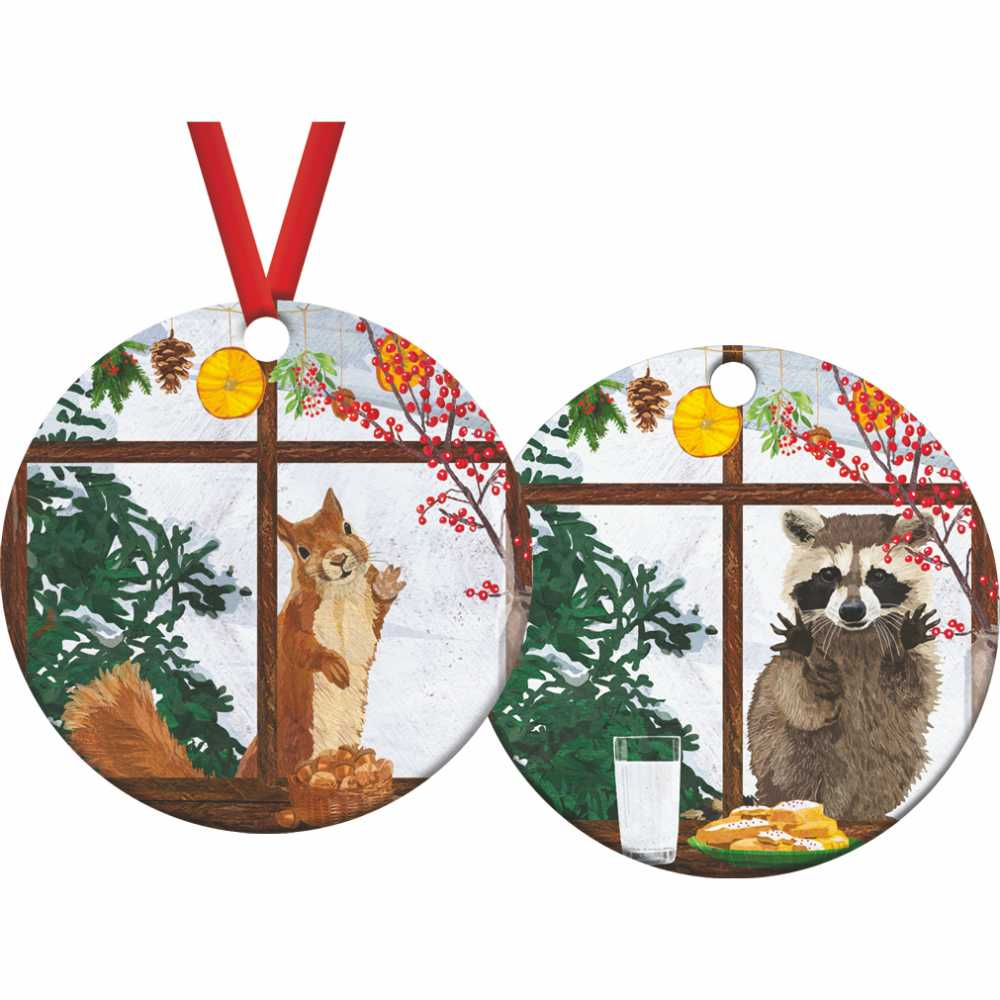 Hearth Time Squirrel / Raccoon Ornament