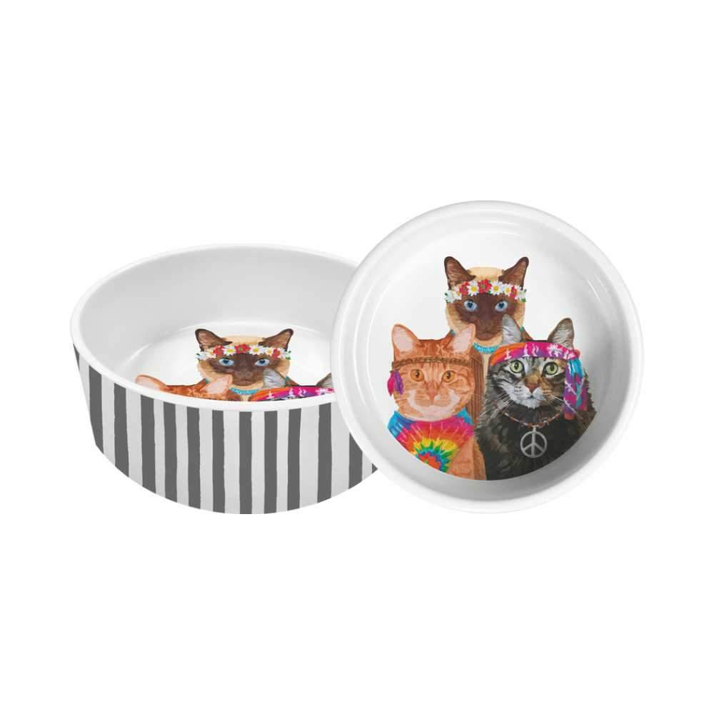 "Groovy Cats 5.5"" Pet Bowl"