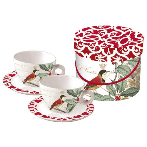 HOLLY BIRD Cappucino Double Cup Gift Set (min.6)