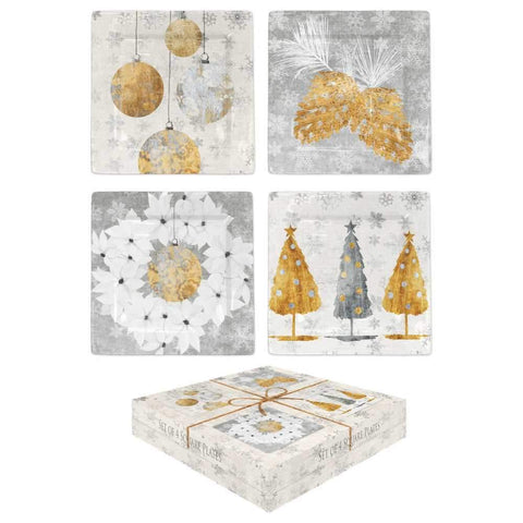 Holiday Festival Gift Boxed Plate Set