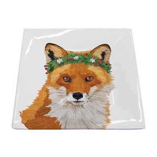 Glacier Fox Square Plate