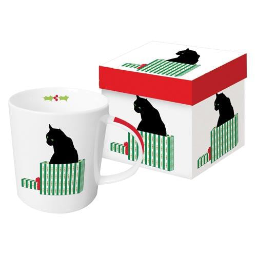 Black Cat Cadeau Gift-Boxed Mug