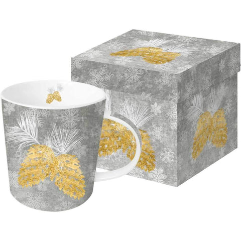 Holiday Pinecones Gift-Boxed Mug