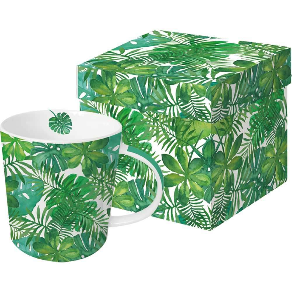 Feuilles Tropicales Gift-Boxed Mug