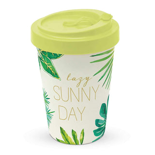 "Saint Tropez ""Lazy Sunny Day"" Bamboo Travel Cup with Lid"