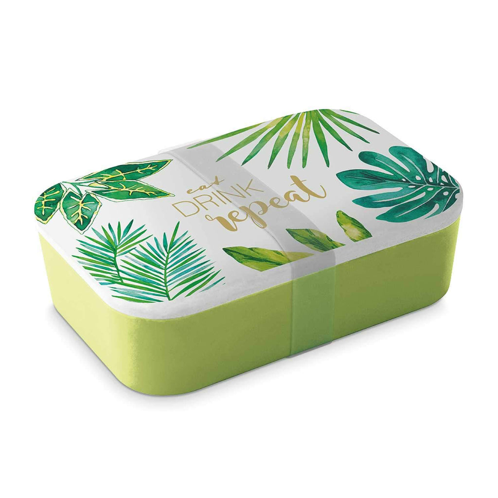 Eat, Drink, Repeat Bamboo Lunch Box