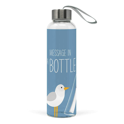 Message in a Bottle Glass Water Bottle