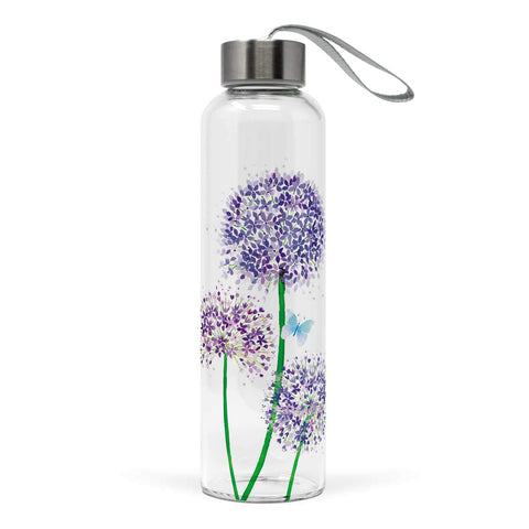 Allium Glass Water Bottle