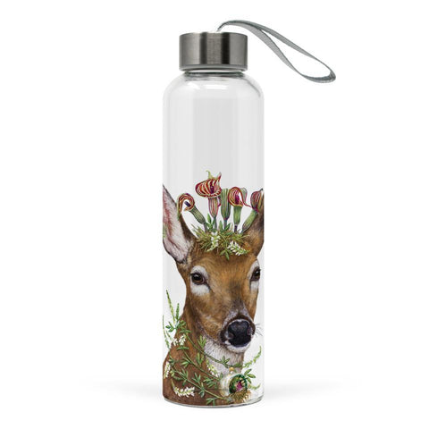 Christmas Princess Glass Water Bottle