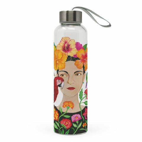 La Dolorosa Glass Water Bottle
