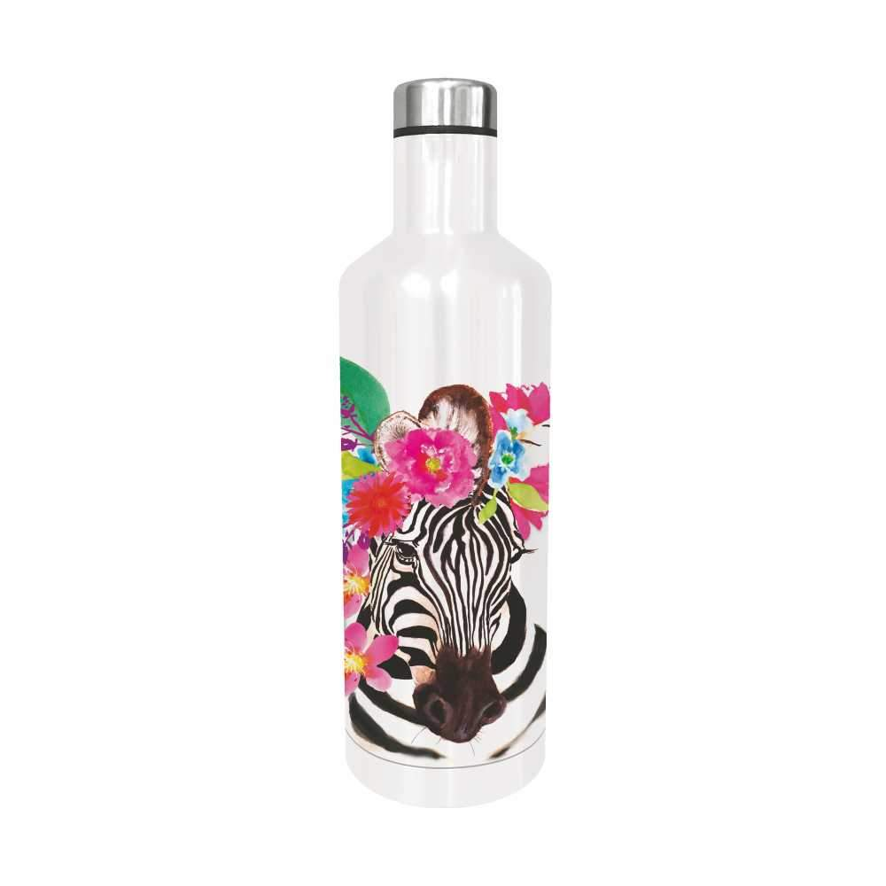 Flora Zebra Water Bottle