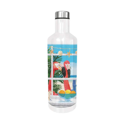 Oceanview Flamingos Water Bottle