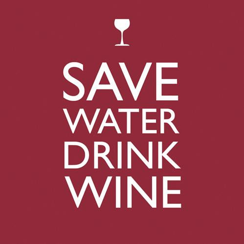 Save Water Beverage Napkin (min.12)