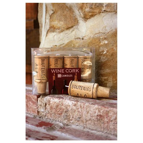 Wine Cork Candle Set (min.12)