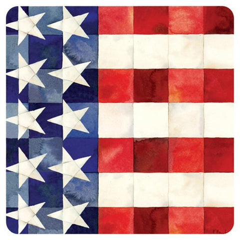 "QUILTED FLAG 10"" Paper Plate (min.12)"