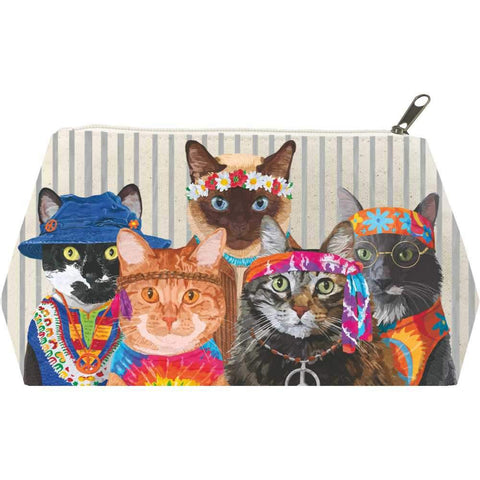 Groovy Cats Canvas Cosmetic Bags