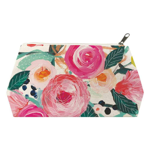 La Belle Rose Canvas Cosmetic Bags