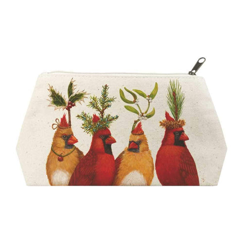 Holiday Party Canvas Cosmetic Bags