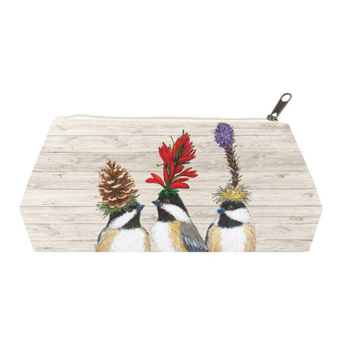 The Chickadee Sisters Canvas Cosmetic Bags