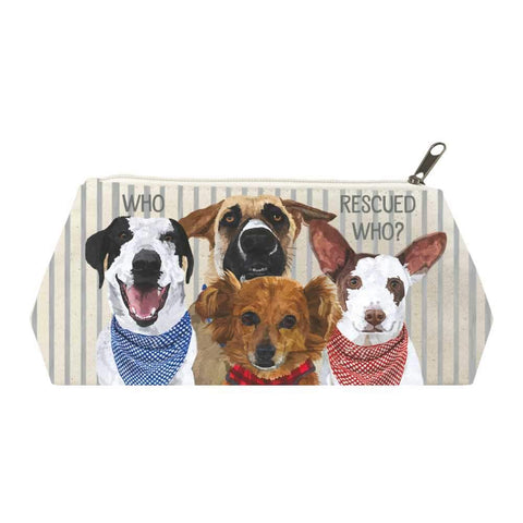 Who Rescued Who? Canvas Cosmetic Bags
