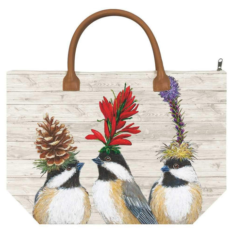 The Chickadee Sisters Canvas Tote Bag