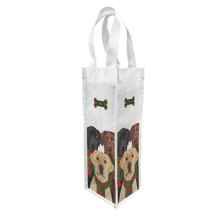 Merry Labradors Canvas Bottle Bag