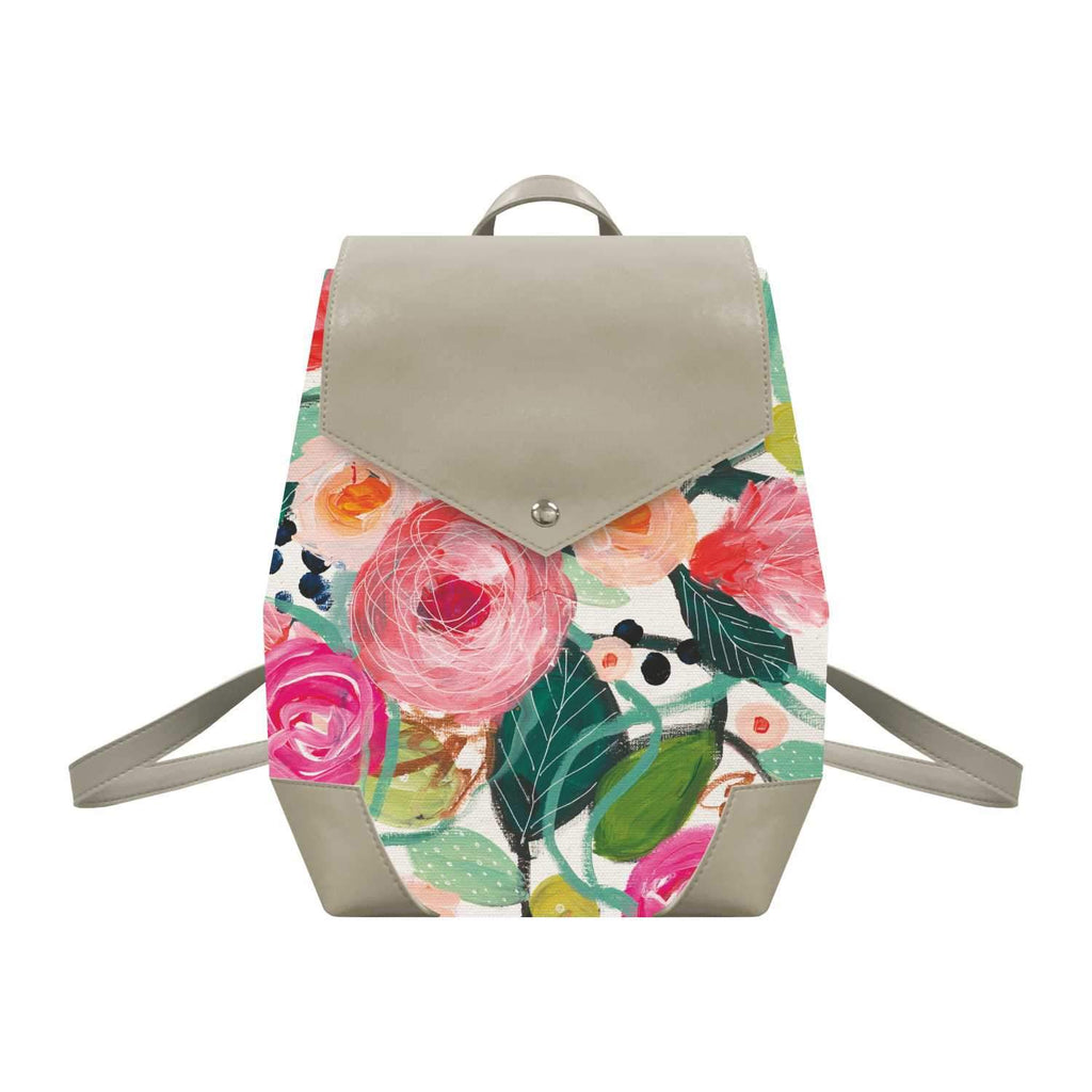La Belle Rose Canvas Backpack