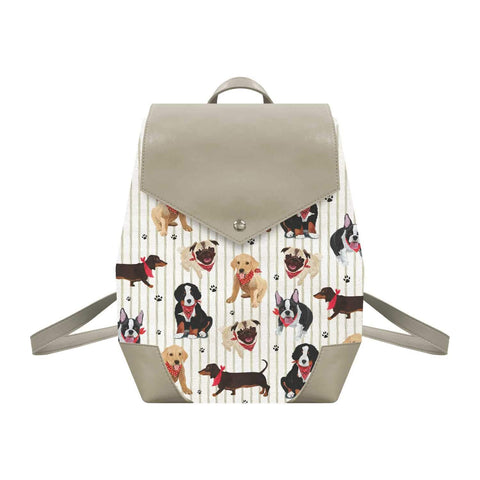 The Bark Bark Gang Canvas Backpack