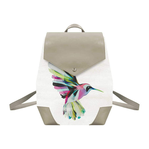 Corfu Hummingbird Canvas Backpack