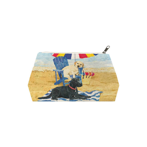 Dog Days of Summer Canvas Cosmetic Bag (LG)
