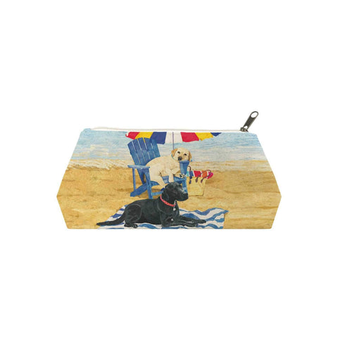 Dog Days of Summer Canvas Cosmetic Bag (MED)