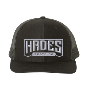 Hades Embroidered Trucker Snapback