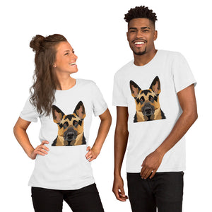 German Shepherd Polygon Unisex T-Shirt