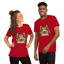 Sheltie / Collie Polygon Unisex T-Shirt