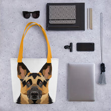 German Shepherd Polygon Tote bag