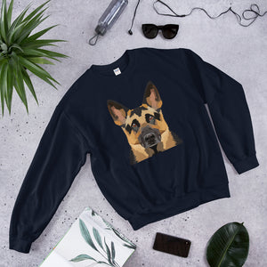 German Shepherd Polygon Unisex Sweatshirt