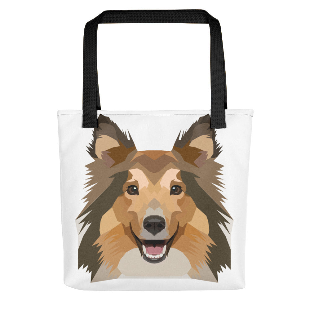 Sheltie / Collie Polygon Tote bag - Pet's Welfare
