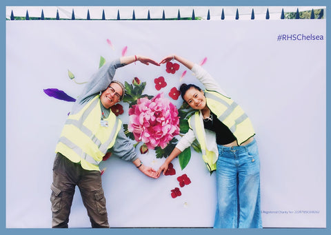Billy and Siyuan at Chelsea Flower Show 2019