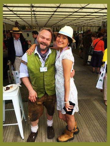 Jens and Siyuan at Chelsea Flower Show 2019