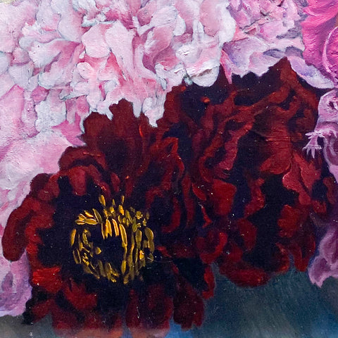 Deep red with shadows - Peonies from Wisley Garden