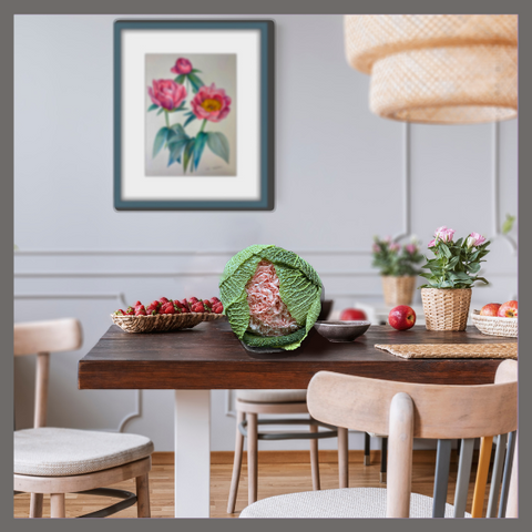 The Peony Girl table top floral arrangement