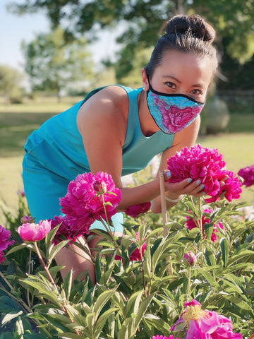 Breathable Ladies Fashion Masks - Turquoise Dream - The Peony Girl