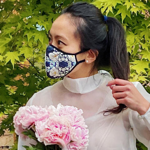Ladies Fashion Masks - Floral Splendour - The Peony Girl