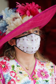 Breathable Ladies Fashion Masks - Peony Purple Pattern - The Peony Girl