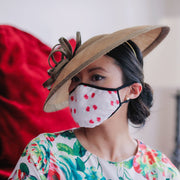 Ladies Fashion Masks - Peony Red Pattern - The Peony Girl
