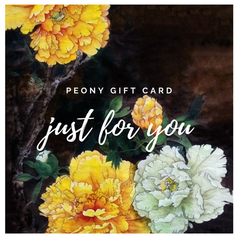 Peony Gift Card for Him - The Peony Girl