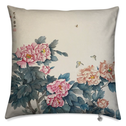 Cushion Cover - Spring Concerto - The Peony Girl