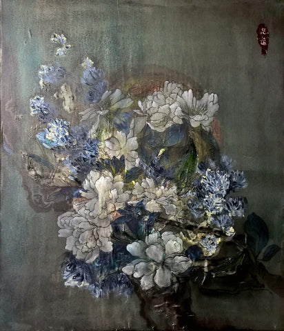 A Peony Bouquet In The Moonlight - The Peony Girl