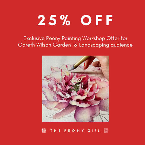 GW Garden & Landscaping Exclusive Workshop Offer - The Peony Girl