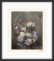 Fine Art Prints: Peony Banquet in the Moonlight - The Peony Girl